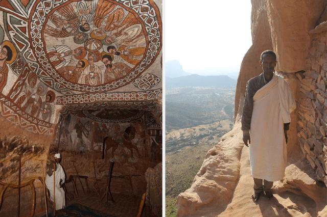 Abuna Yemata Guh, Fresken, Priester