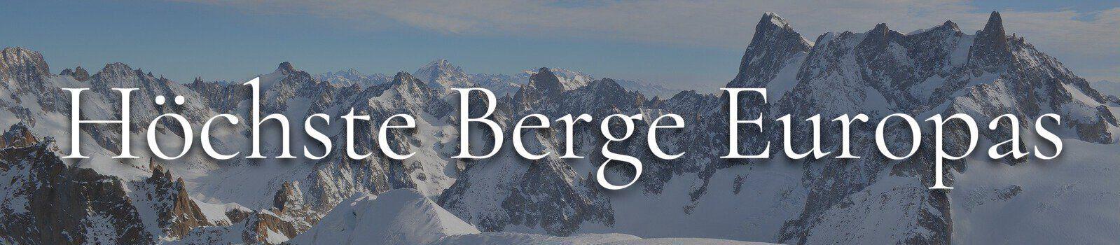 Banner höchste Berge Europas