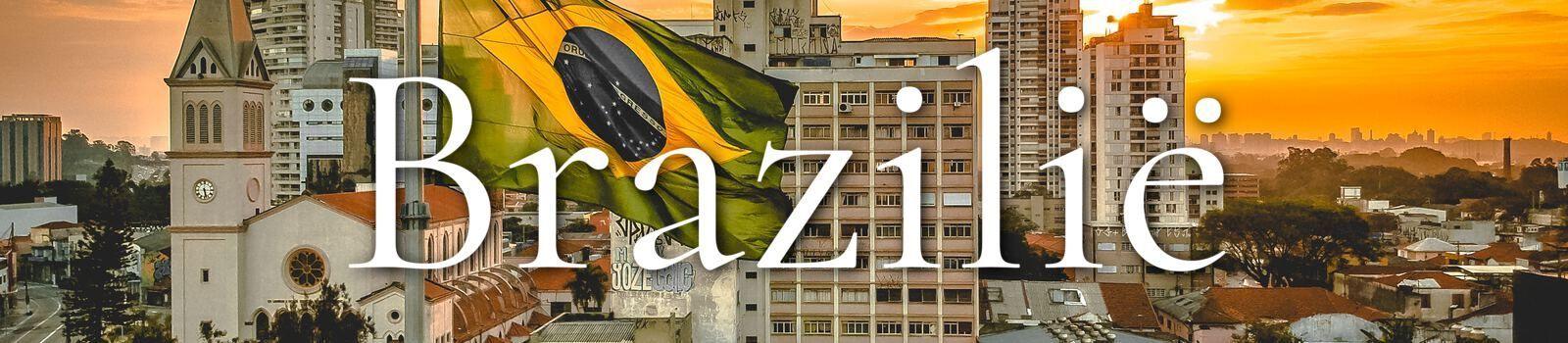 Braziliaanse vlag met Brazilië