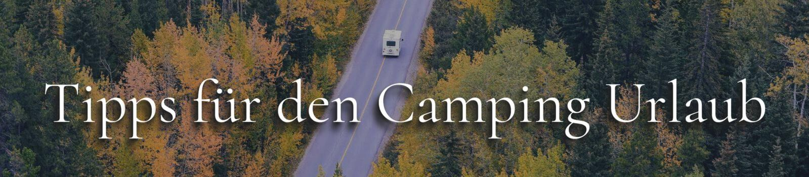 Camping Tipps Banner