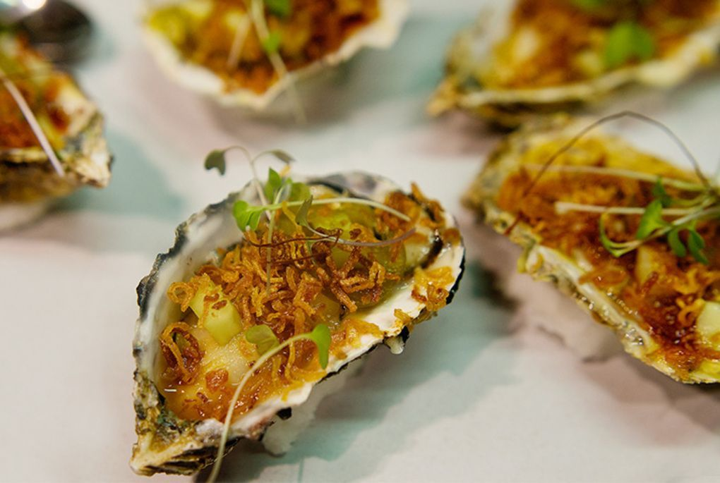 Oysters at Beau Constantia in Cape Town