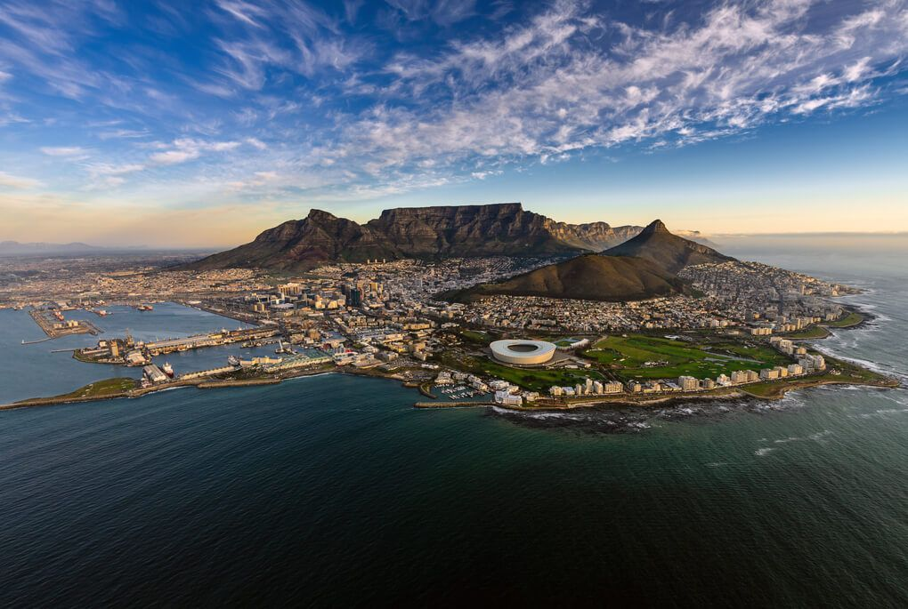 Distant view of Cape Town, South Africa