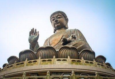 Koperen Tian Tan Boeddha Hong Kong