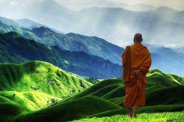 Kloster Nepal Mönch