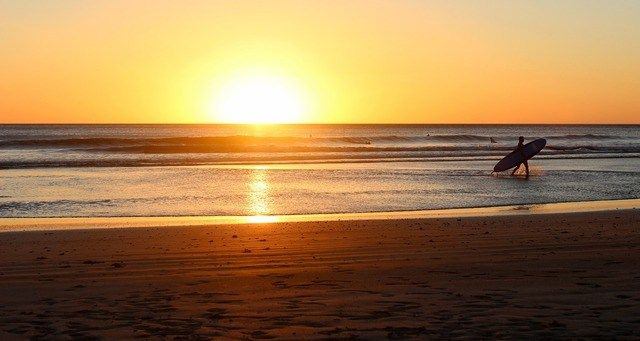 Sonnenuntergang Stand Korfu