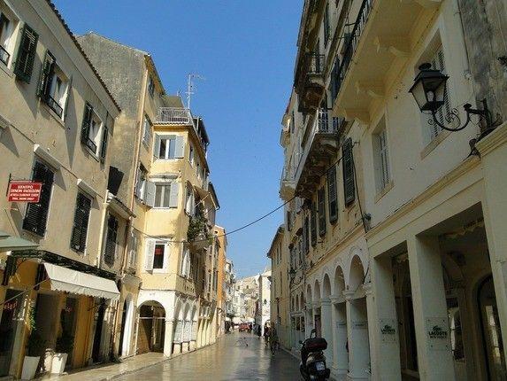 Straße Korfu