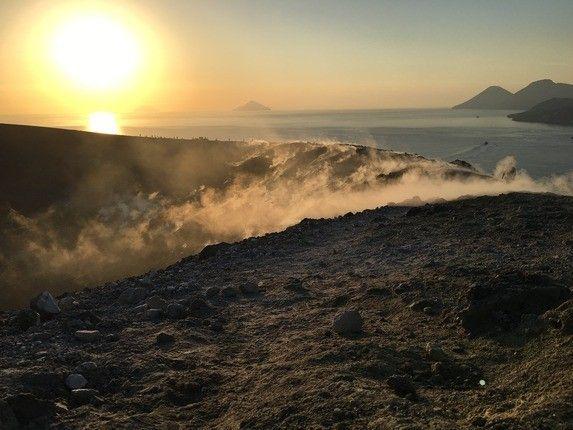 Vulkanlandschaft Liparische Inseln