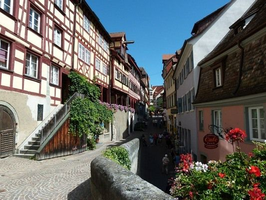 Village de Meersburg en Allemagne