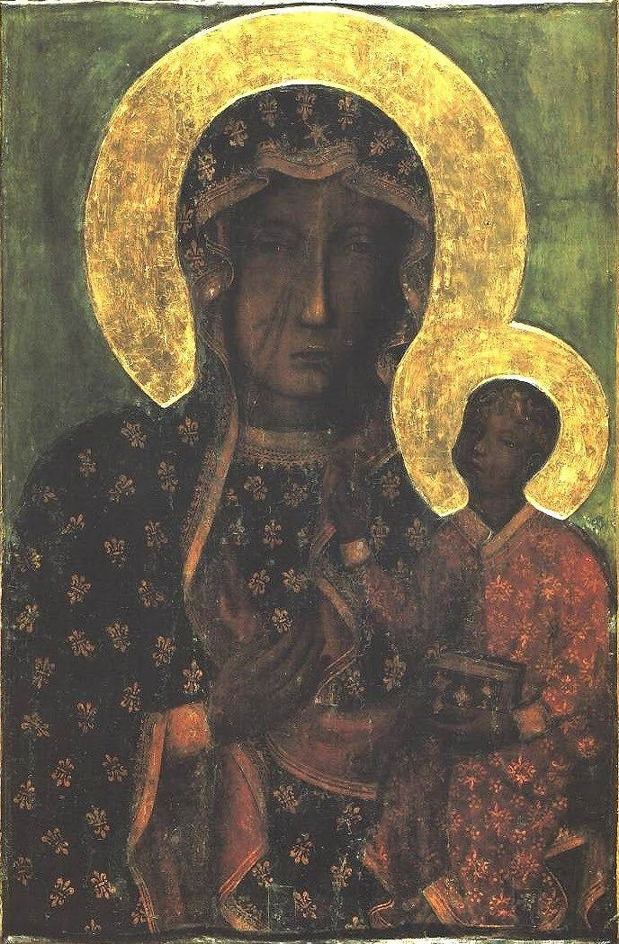 Black Madonna Painting