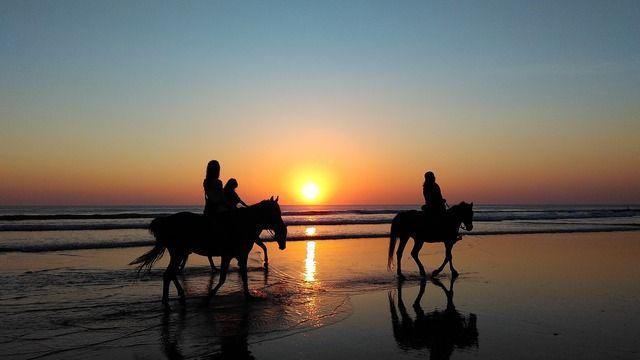 Reiten Sonnenuntergang