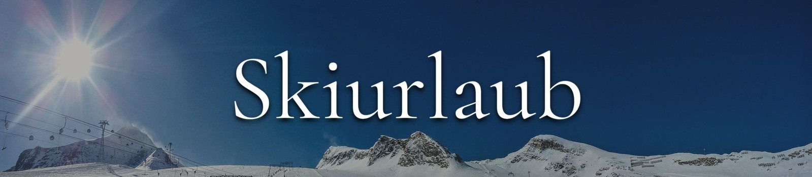 Skiurlaub Banner
