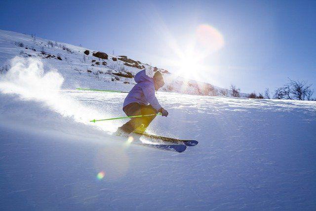 Skiurlaub Skifahrer
