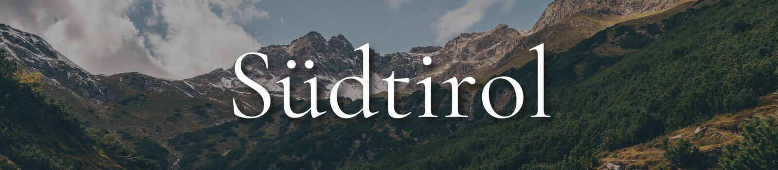 Urlaub Südtirol Banner