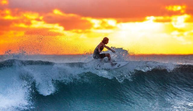 Surfen Goldküste Kalifornien