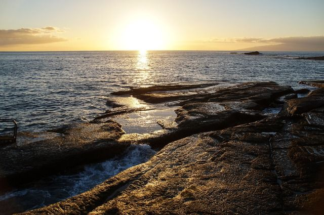 Teneriffa Sonnenuntergang Meer