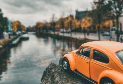 Volkswagen Beetle Gracht Amsterdam