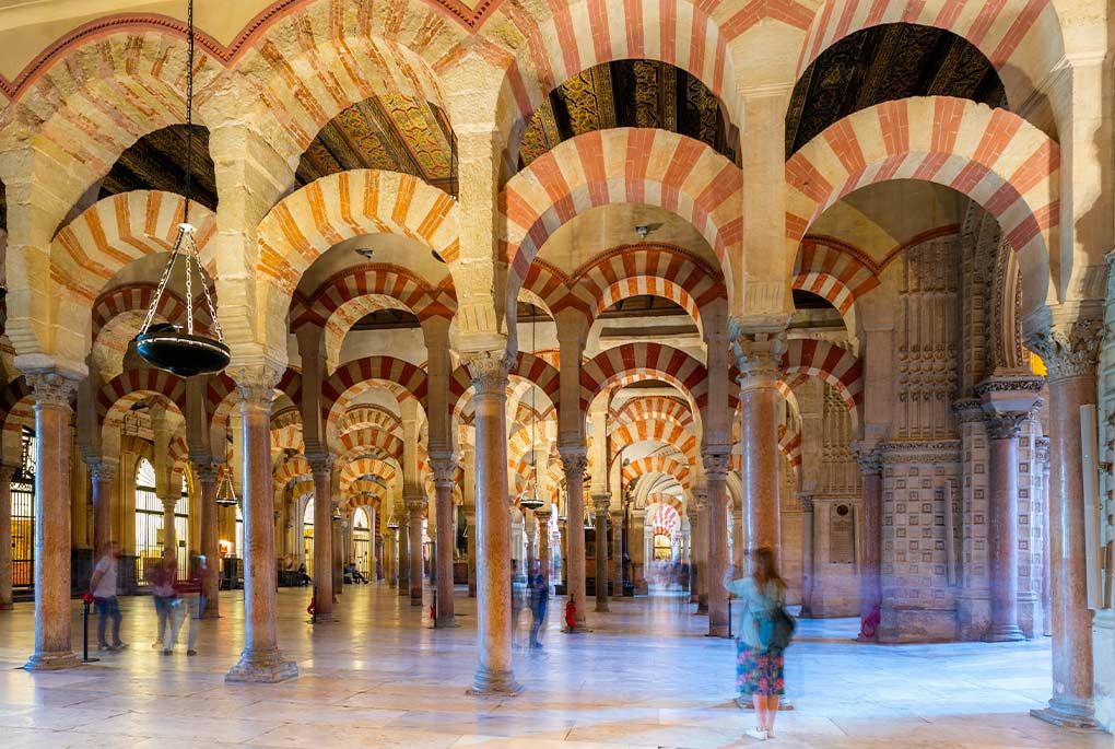 Columns in the Great Mosque of Cordoba