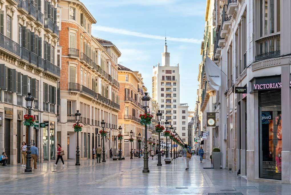 Calle Larios in Malaga's historic center