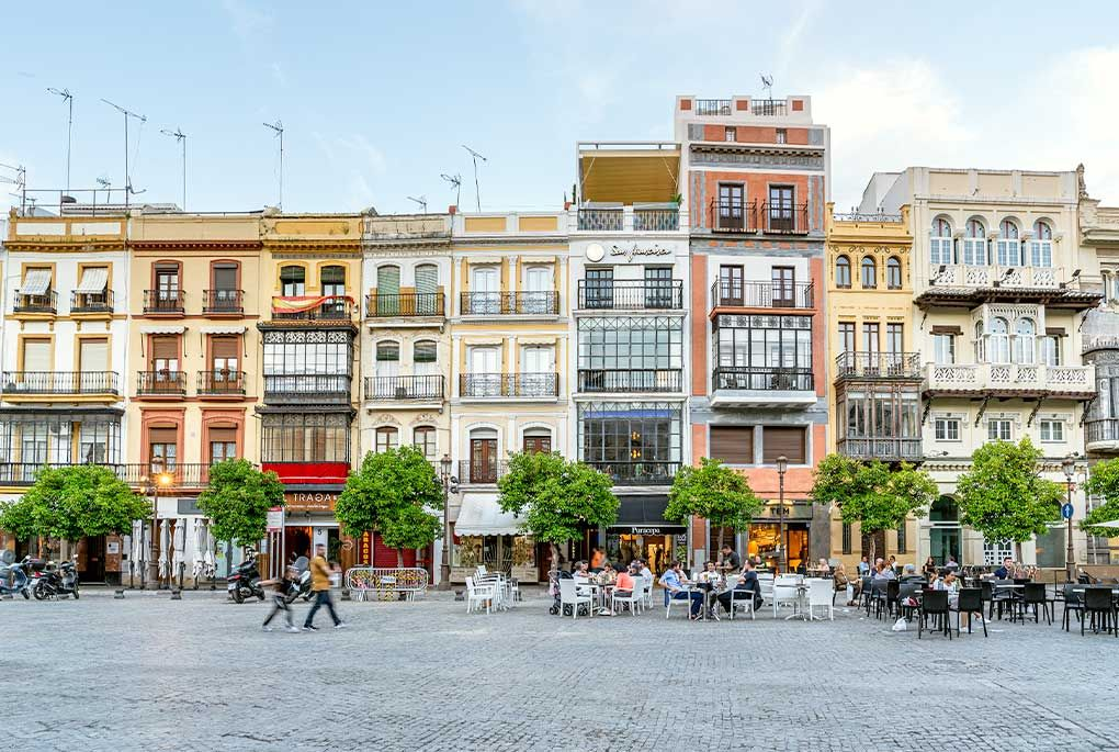 Square in Seville's center