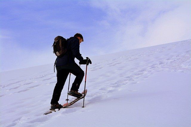 Snowshoes in the French Alps