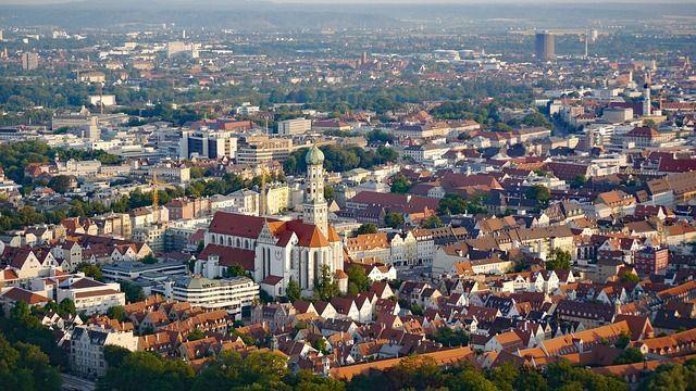 Augsburg von oben