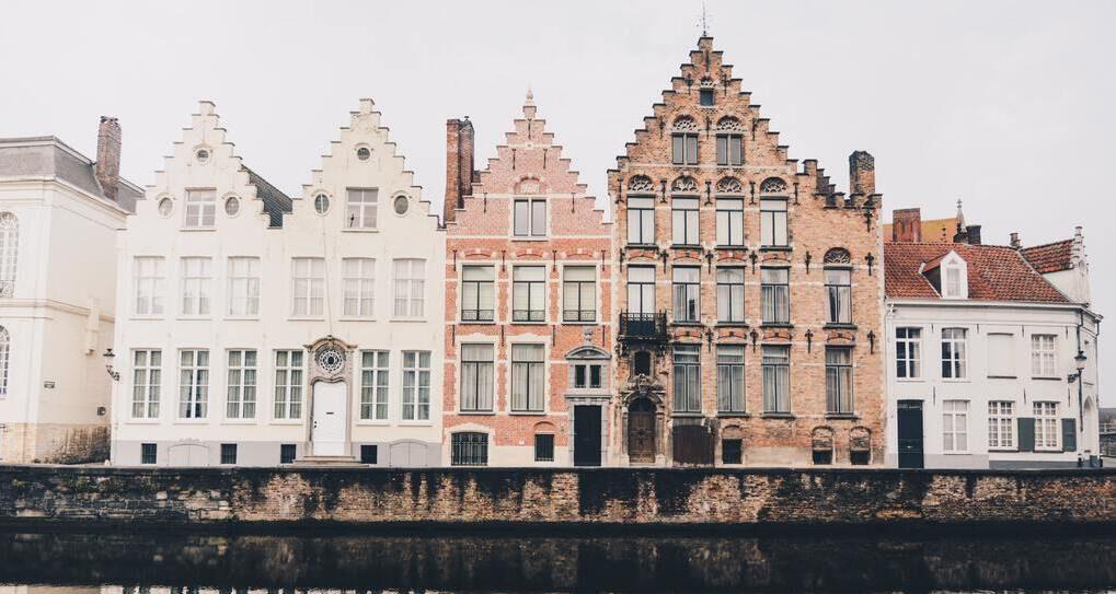 Typical architecture in Brugge, Belgium