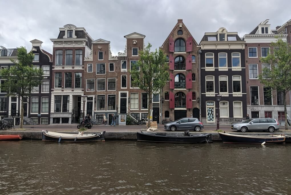 Amsterdam homes along the canal