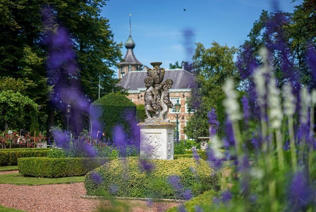 Purple flowers in front of Breda Castle