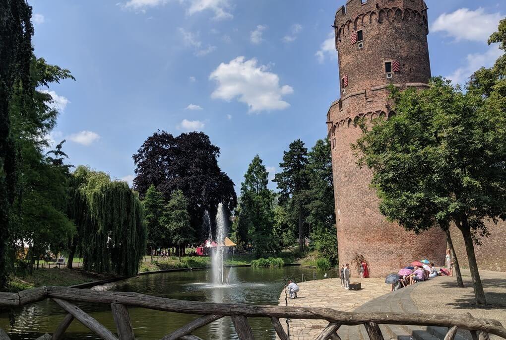 Nijmegen castle and pond