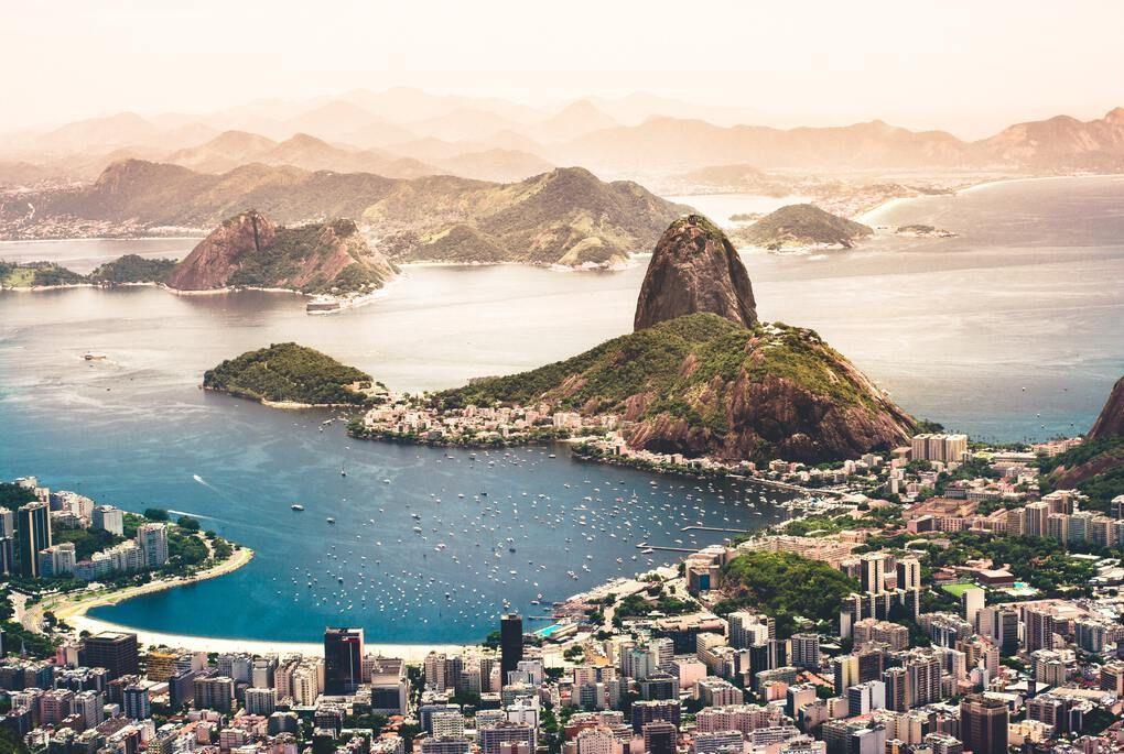 aerial photography of Rio de Janeiro, Brazil