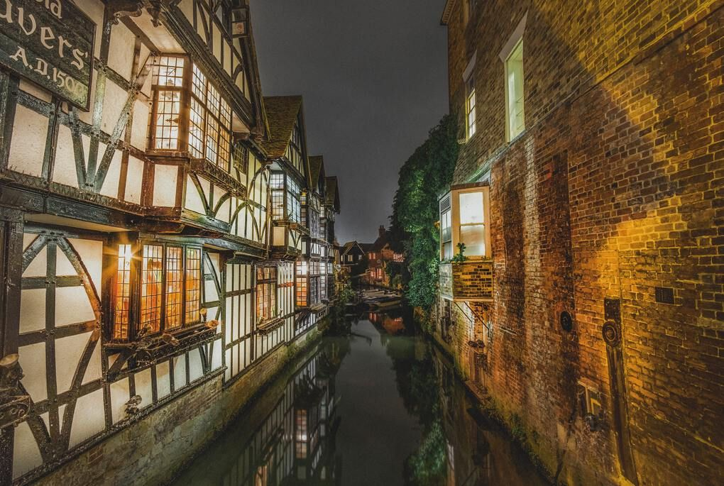 Canterbury at night