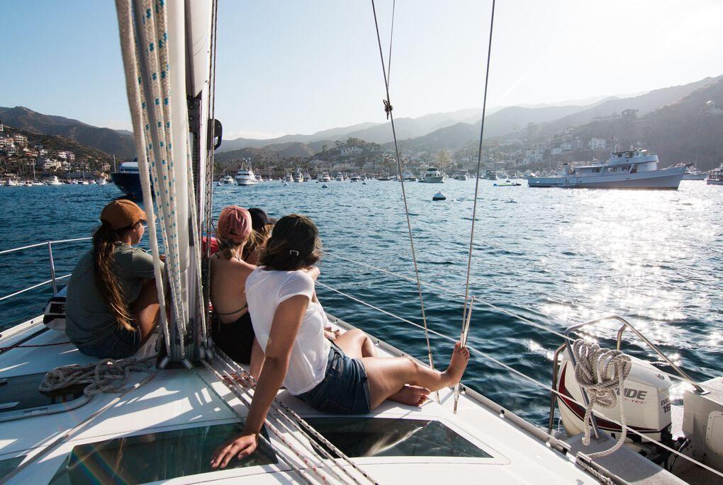 Sailing in Catalina
