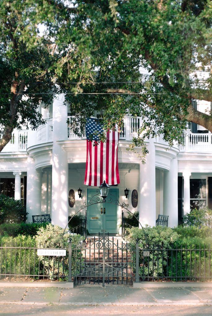 maison drapeau americain