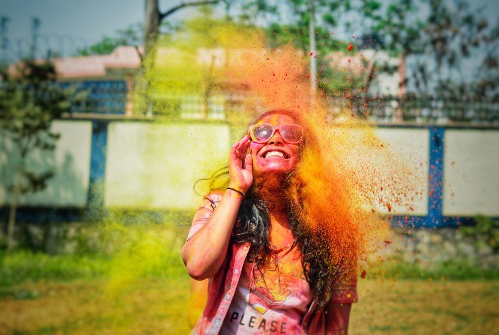 Holi festival in Assam