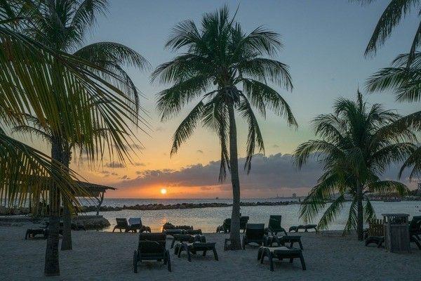 Curacao zonsondergang