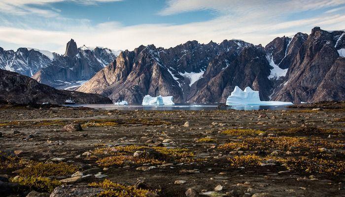 Bergen en gletsjers in Denemarken