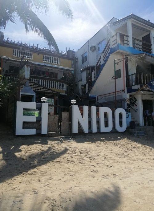 El Nido Town Beach sign