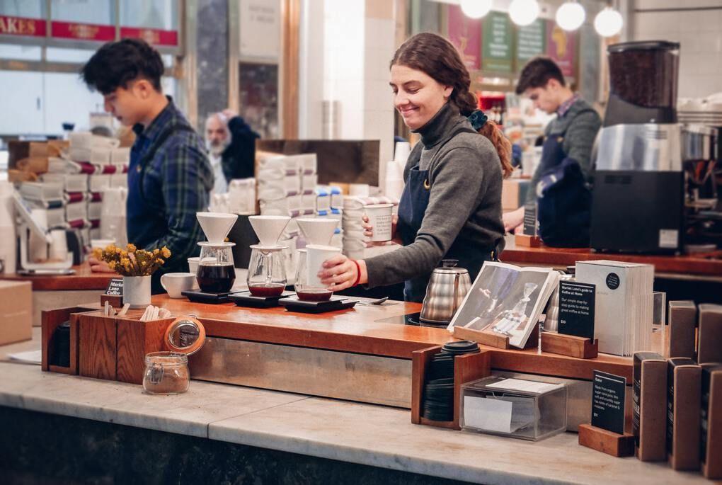 Coffee at Queen Victoria Market