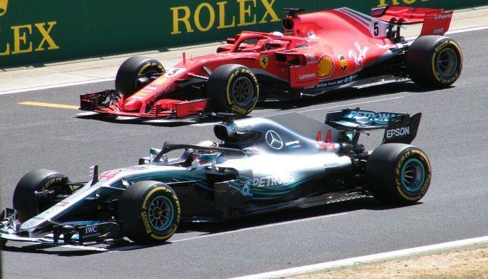 Formule 1 Ferrari en Mercedes
