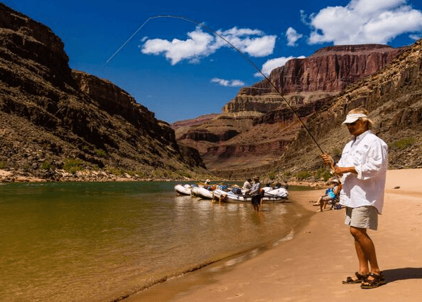 Fishing by Ralph Hopkins,  Arizona Rafting Grand Canyon