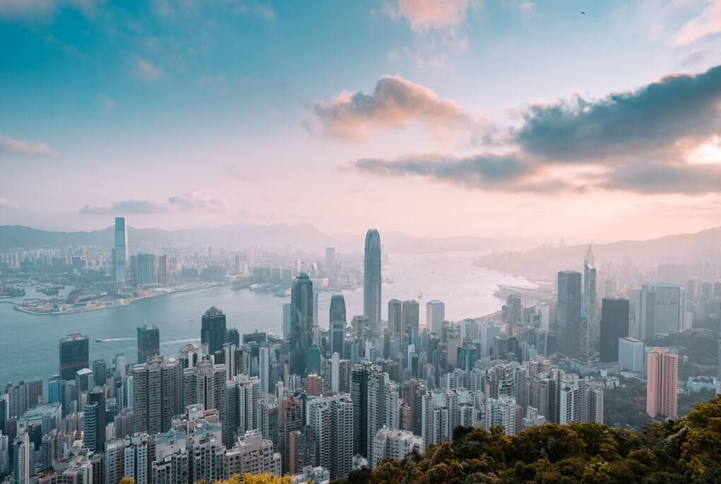 View from Victoria Peak over Hong Kong skyline