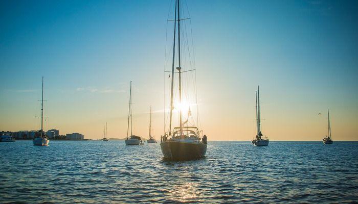 Zeilboten in Ibiza
