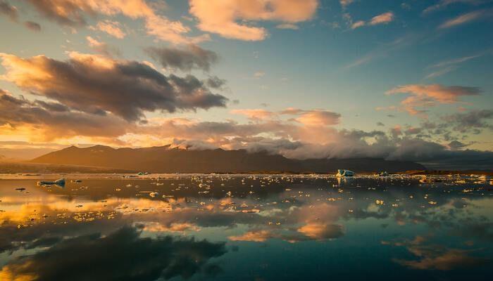 IJsland bergen en meer