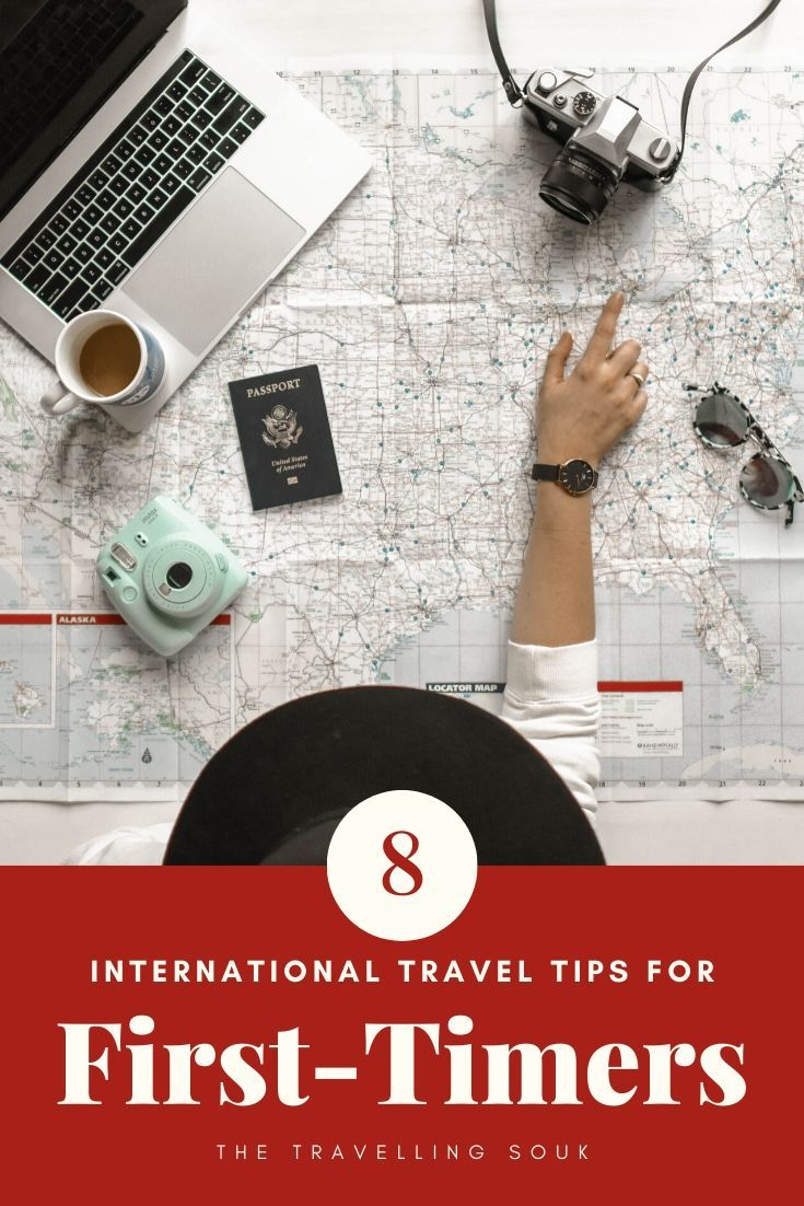 Pinterest Cover Photo - Girl with laptop planning her trip with title of post
