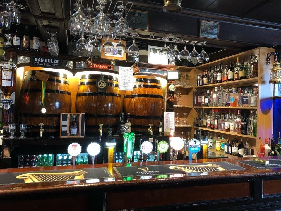 Fully stocked bar in Ireland