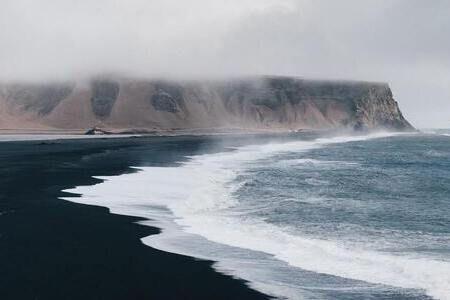 islanda spiaggia nera