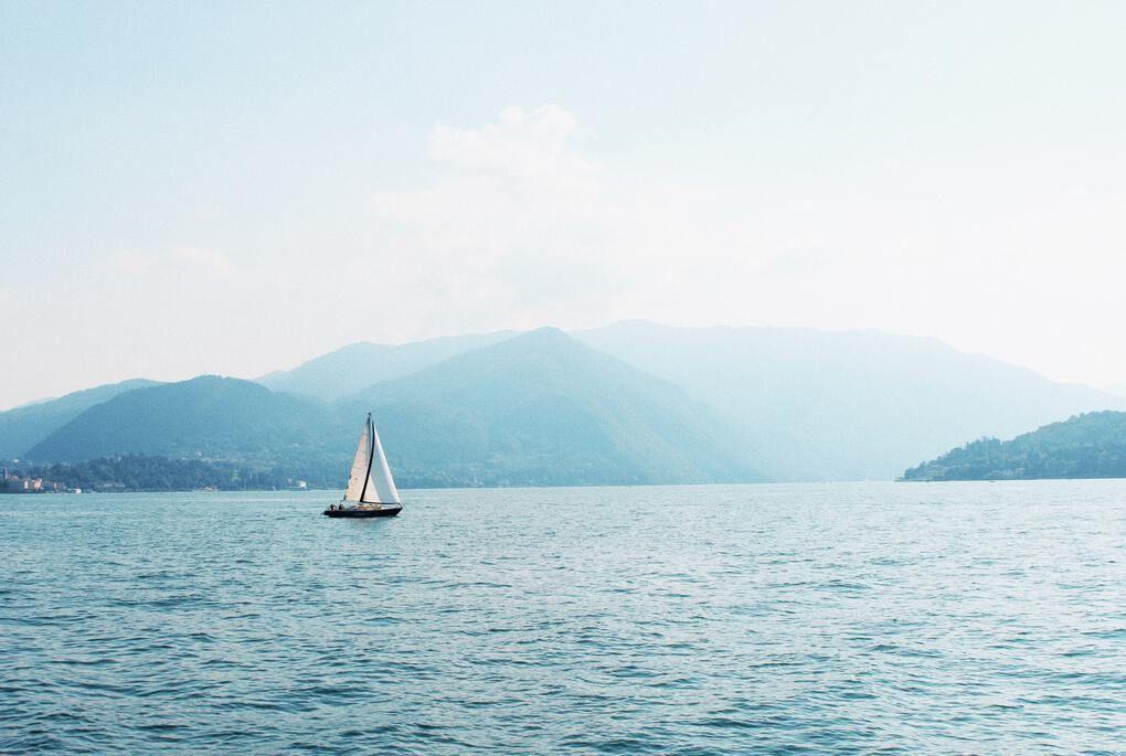 Boat on Lake Como