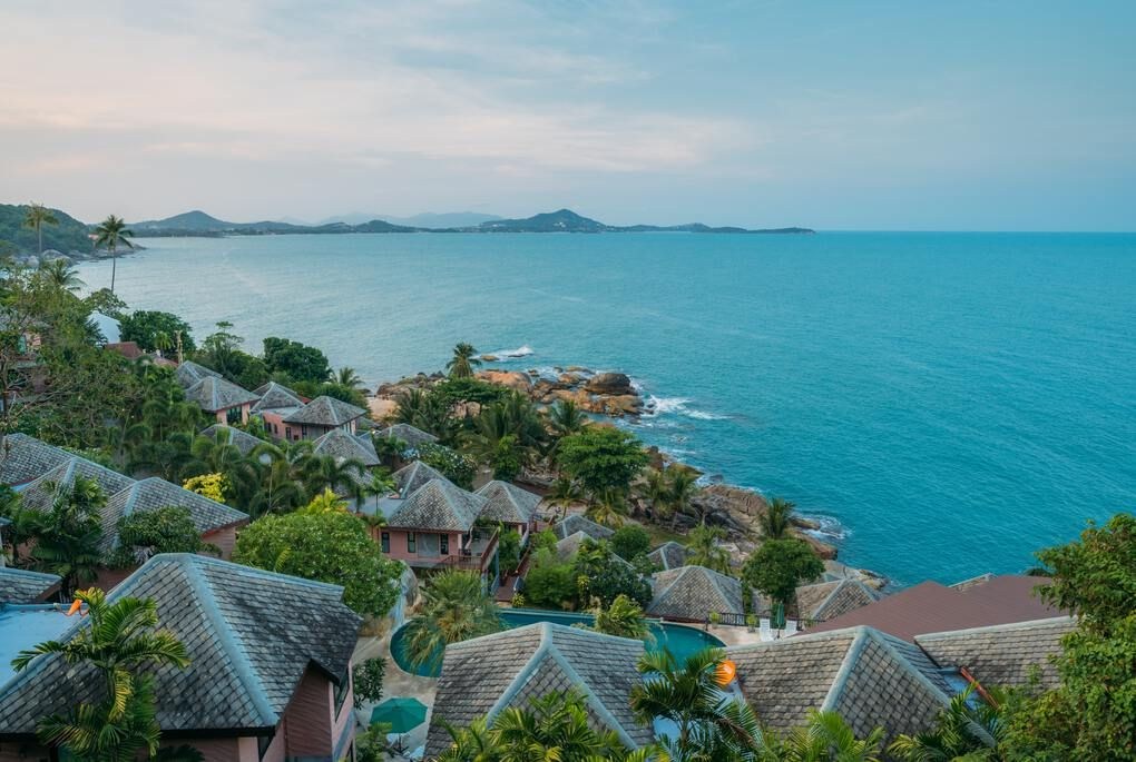 Overlooking the coastline of Koh Samui