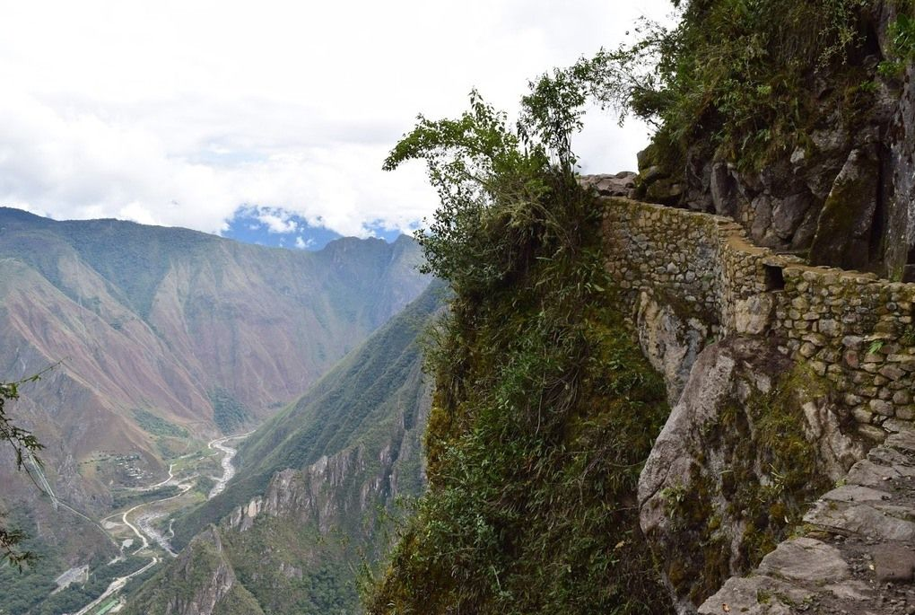 Panoramic view over the Andes Mountains
