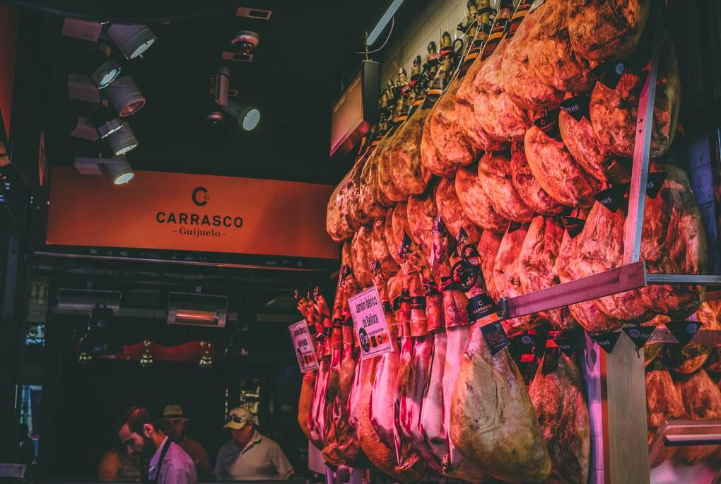 San Miguel Market in Madrid Spain